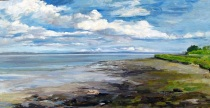 """Near Tarbert, Co. Kerry, Ireland"" Oil on canvas (16x32)"
