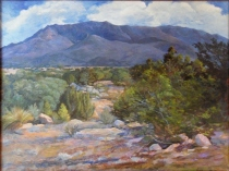"""Sandia Mountain Majesty""Oil on linen (30x40)"
