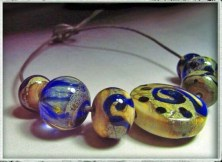 blue helix beads