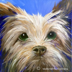 Funny Face Dog — oil