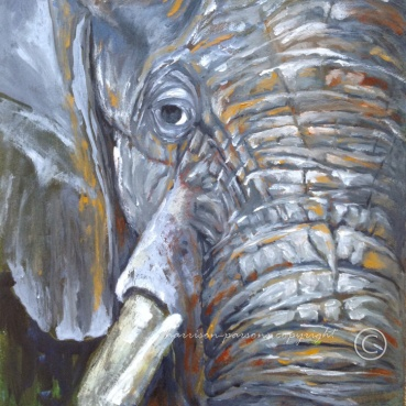 Make Room Elephant — oil
