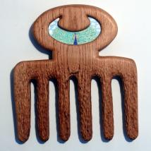 'Beauty', acrylic paint on carved oak