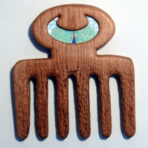'Beauty', acrylic paint on carved oak
