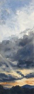 Ray Thru Evening Clouds, Maryland