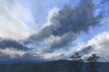 Evening Cloud Drama at Sunset 3, Nimrod Hall, VA