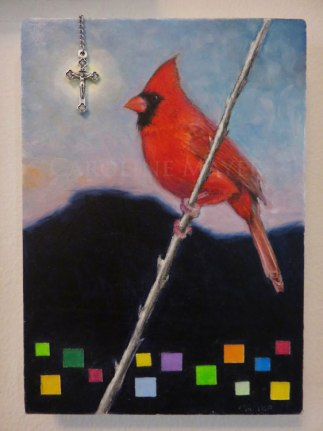 """Above it All (Male Cardinal)"""