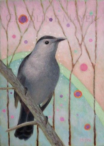 """Catbird in the Springtime"""