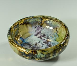 """Gold Jewel Bowl"""